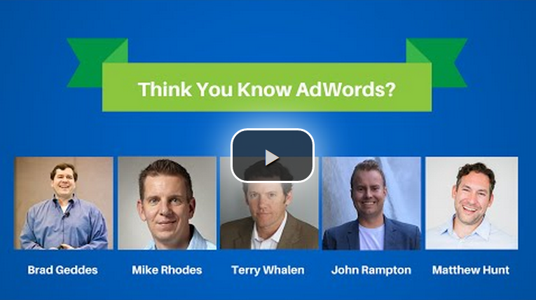 think you know adwords
